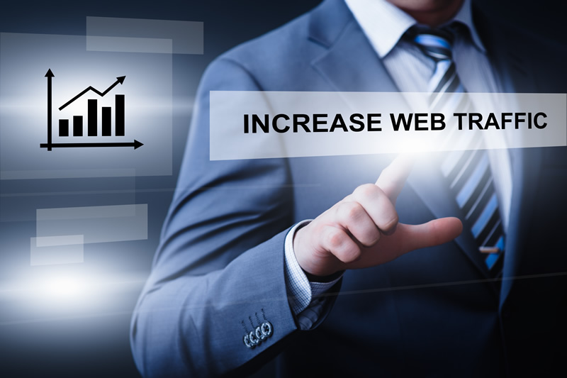 Web traffic increase illustration