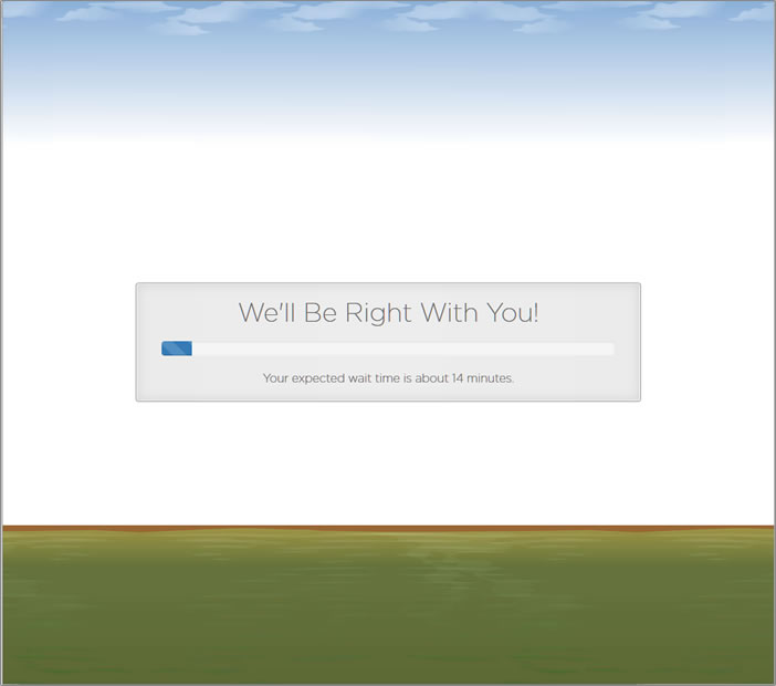 Screenshot - HostGator's chat session wait screen