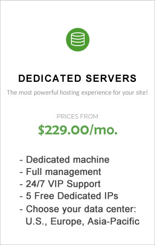 SiteGround Dedicated server hosting.
